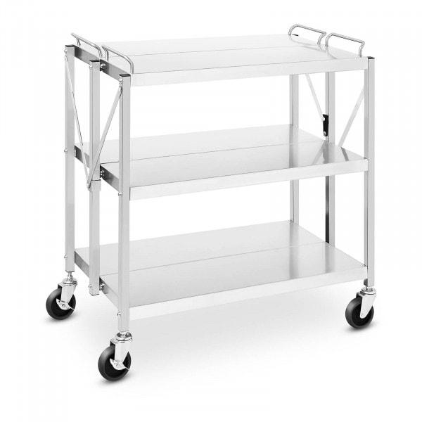 Service Cart - 3 selves - 90 kg - 50 x 83 cm - folding