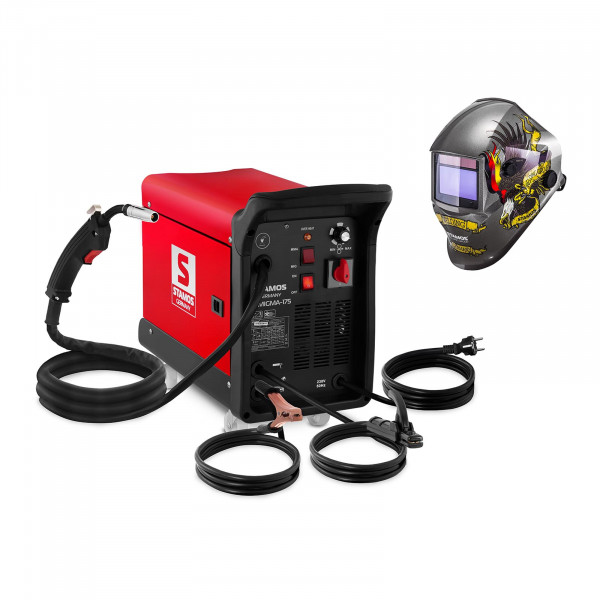 Welding Set Combined Welder - 175 A - 230 V - with cart + Welding helmet – Eagle Eye - ADVANCED SERIES