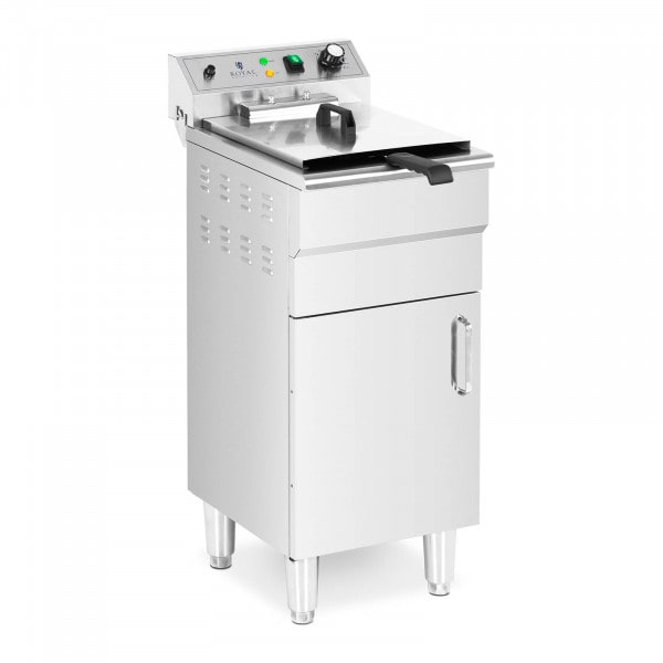 Deep Fat Fryer - 13 L - 5,000 W - drain tap - cold zone - with cabinet