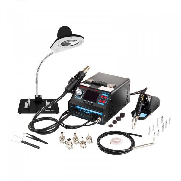 Set Soldering Station with Tin Roller Clamp and Soldering Smoke Vent + Accessoires