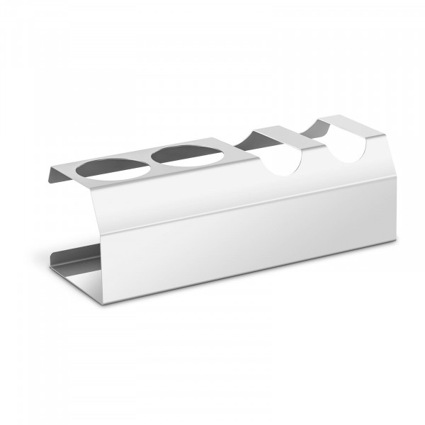 Hot Dog Holder - 2 pockets - 2 bottle holders for sauces - stainless steel