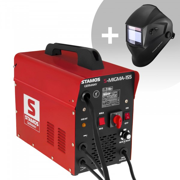 Welding Set Combined Welder - 155 A - 230 V - with cart + Welding helmet – Blaster - ADVANCED SERIES