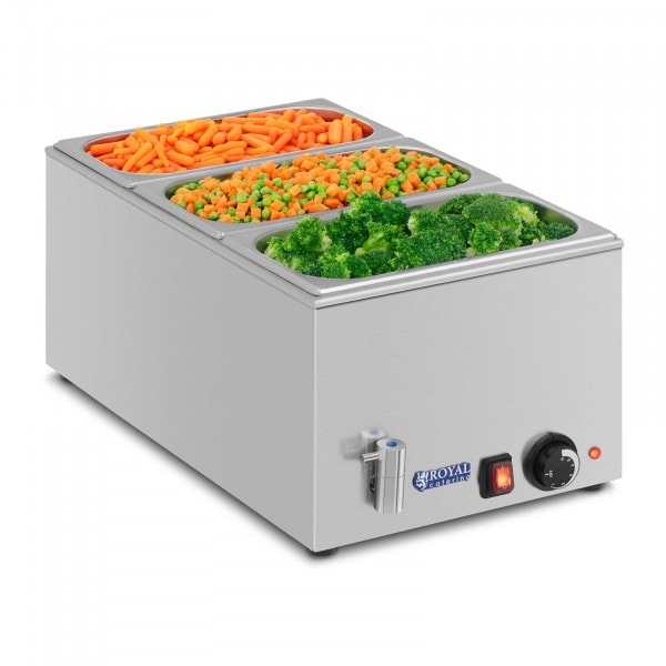 Bain-marie - GN container - 1/3 - drain tap