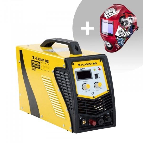 Welding Set CNC Plasma Cutter - 85 A - 400 V - Pilot Ignition + Welding helmet –Pokerface - PROFESSIONAL SERIES