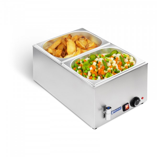 Bain-marie - GN container - 1/2 - drain tap