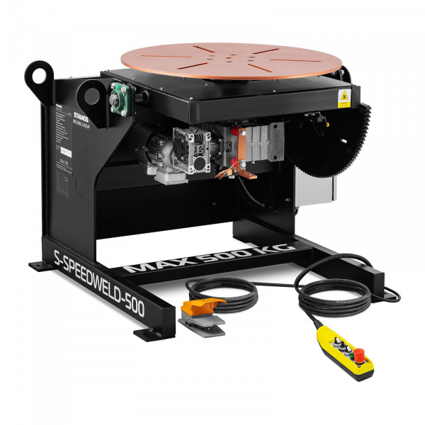 Welding Turntable - 500 kg - table inclination 0 - 140° - foot pedal