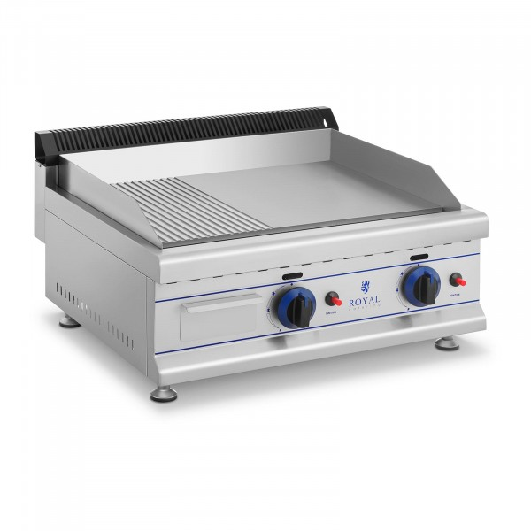 Double Gas Griddle - 65 cm - natural gas - 20 mbar