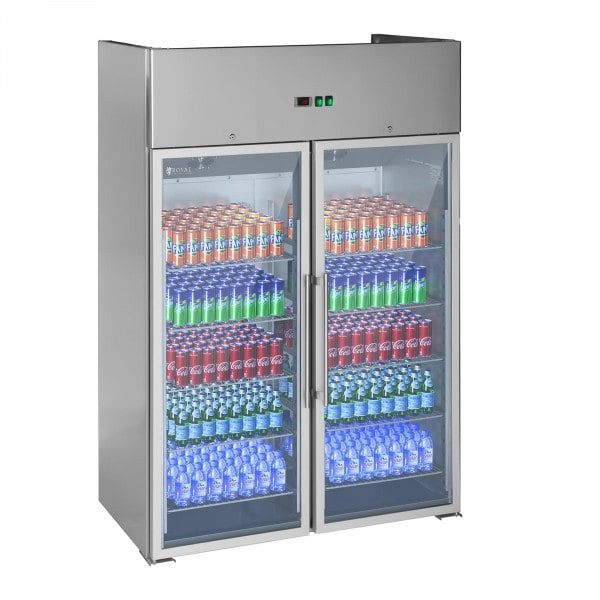 Commercial Fridge with 2 Glass Doors - 984 L