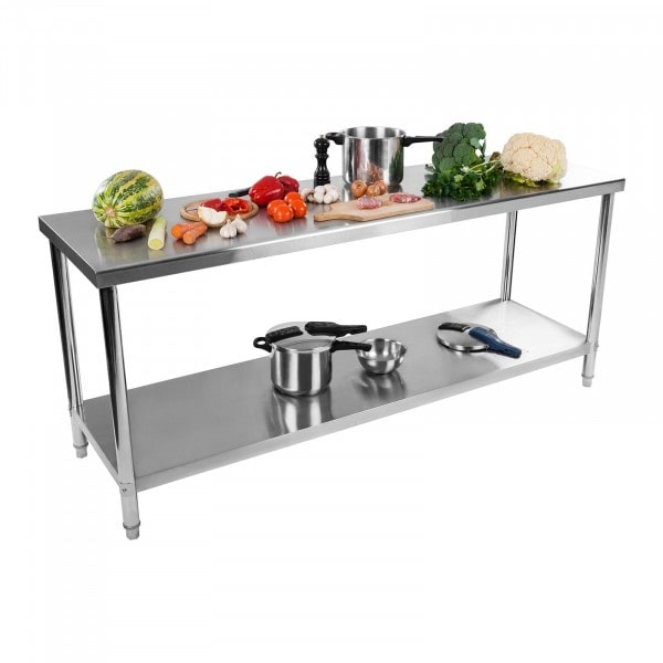 Stainless Steel Table - 200 x 60 cm - 160 kg capacity