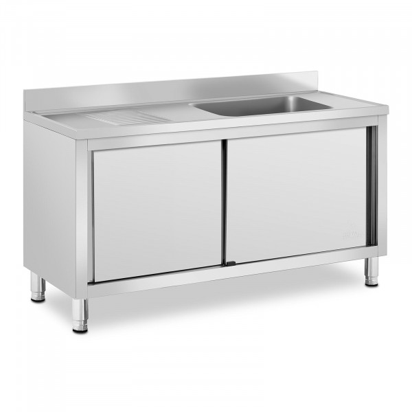Commercial Kitchen Sink - 1 basin - Royal Catering - Stainless steel - 500 x 400 x 240 mm