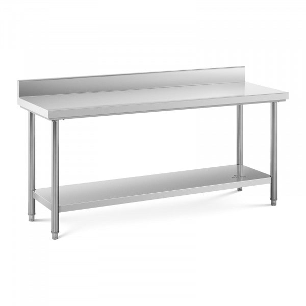 Stainless Steel Work Table - 180 x 60 cm - upstand - 170 kg capacity