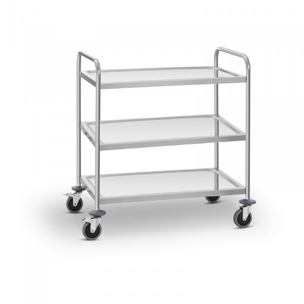 Stainless Steel Service Trolley - 3 shelves - up to 150 kg