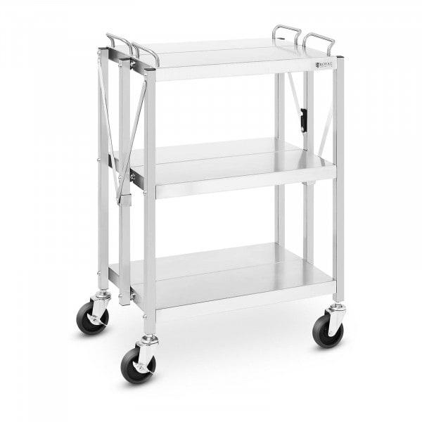 Service Cart - 3 shelves - 90 kg - 40 x 58 cm - folding