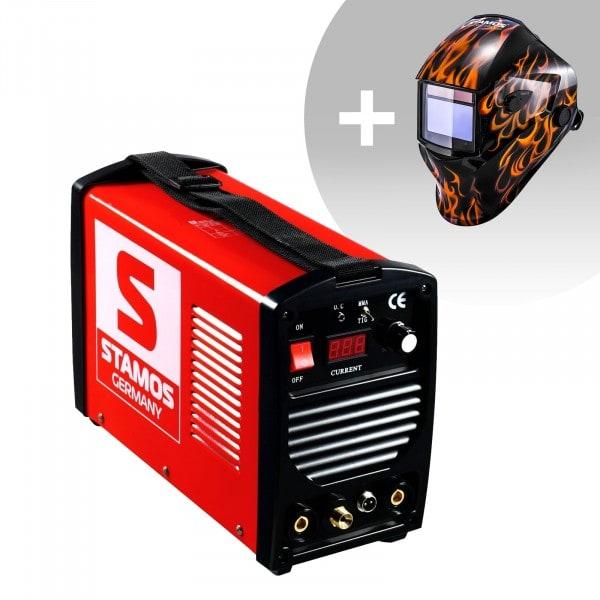 Welding Set TIG Welder - 200 A - 230 v - mobile + Welding helmet – Firestarter 500 - ADVANCED SERIES
