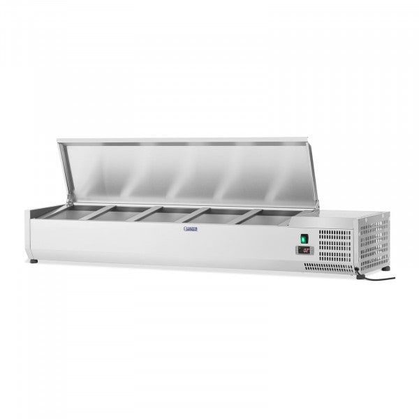 Countertop Refrigerated Display Case - 160 x 33 cm - 8 GN 1/4 Containers