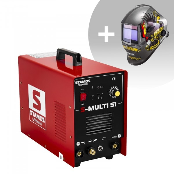 Welding Set Combined Welder - TIG 180 A - Cut 50 A - MMA + Welding helmet – Eagle Eye - ADVANCED SERIES