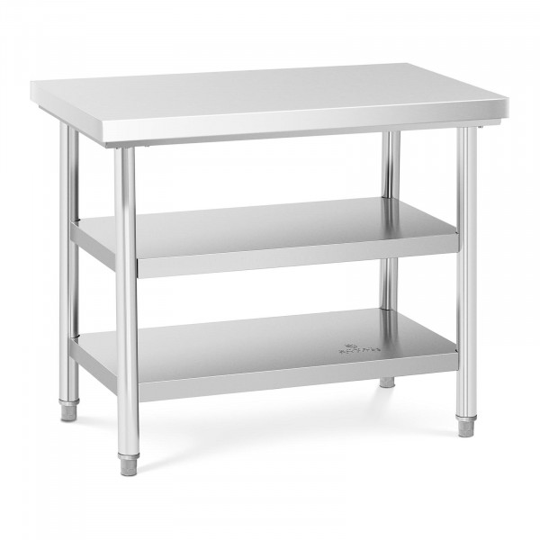 Stainless Steel Work Table- 100 x 60 cm - 600 kg - 3 levels