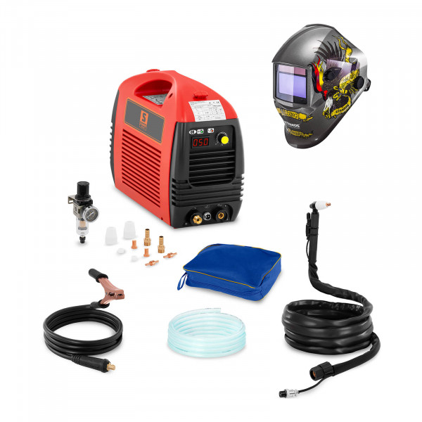 Welding Set Plasma Cutter - 50 A - 230 V - Basic + Welding helmet – Eagle Eye - ADVANCED SERIES