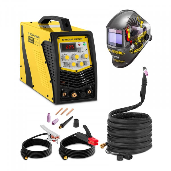 Welding Set TIG Welder - 225 A - 230 V - Pulse - 2/4 Tact - SELECTION + Welding helmet – Eagle Eye - ADVANCED SERIES