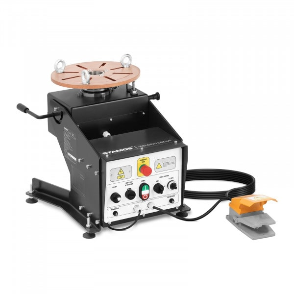 Welding Turntable - 100 kg - table inclination 0 - 140° - foot pedal - chuck