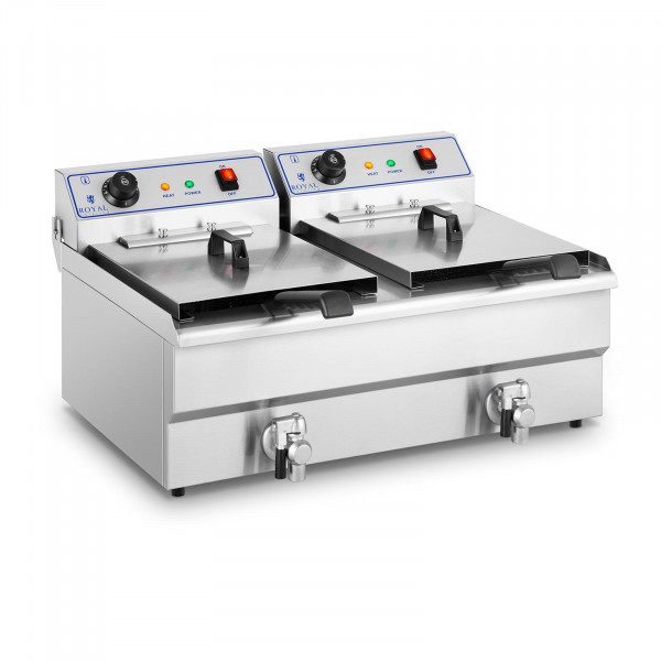 Electric Deep Fryer - 2 x 16 L - 230 V