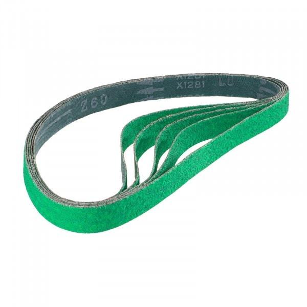 Zirconia sanding belts - 760 x 20 mm - 60 graining