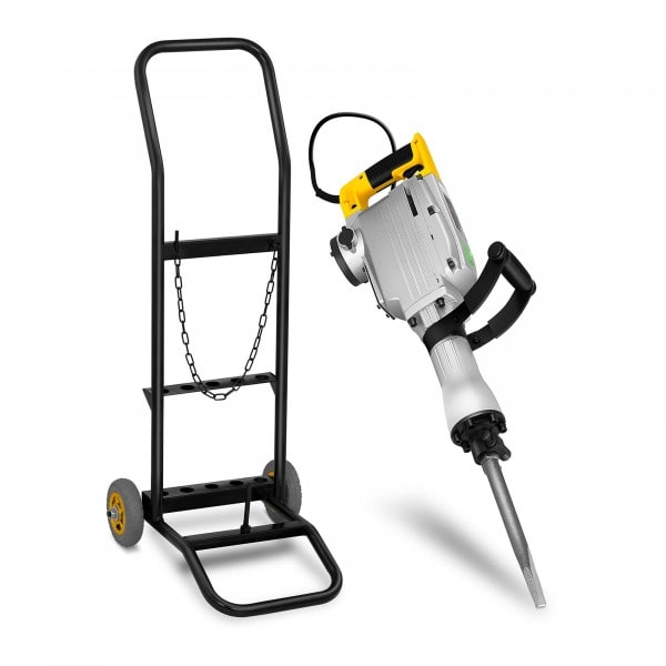 Demolition Hammer with Trolley - 1,850 W - 1,900 bpm - 45 J - SDS HEX