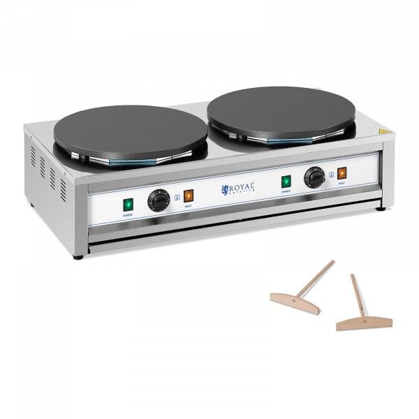 Crepe Maker - 2 heating plates - 2 x 400 mm - 2 x 3,000 W