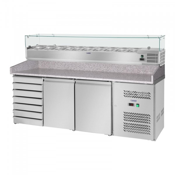 Cooling Table - Cooling Attachment - 702 L - Granite Counter - 2 Doors
