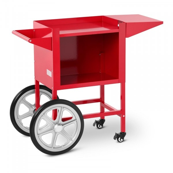 Trolley for Popcorn Machine - red - 2 brakes
