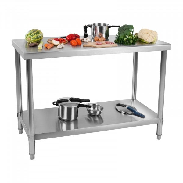 Stainless Steel Table - 100 x 60 cm - 114 kg load capacity