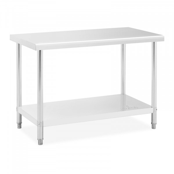 Stainless Steel Table - 120 x 60 cm - max. weight capacity 110 kg