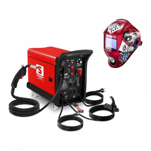 Welding Set Combined Welder - 195 A - 230 V - with cart + Welding helmet –Pokerface - PROFESSIONAL SERIES