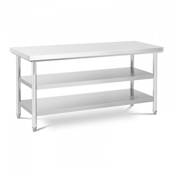 Stainless Steel Work Table - 70 x 180 cm - 600 kg - 3 levels