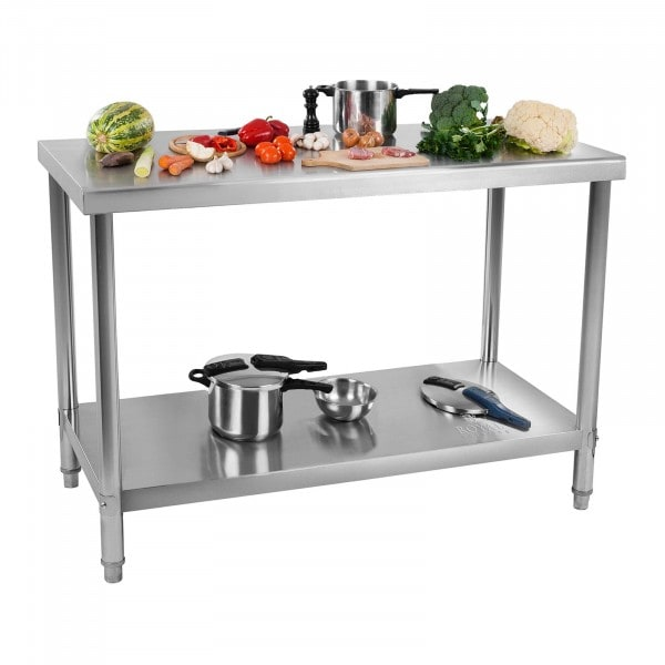 Stainless Steel Work Table - 120 x 70 cm - 115 kg capacity