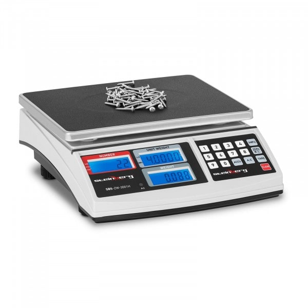 Counting Scale - 30 kg / 1 g - white