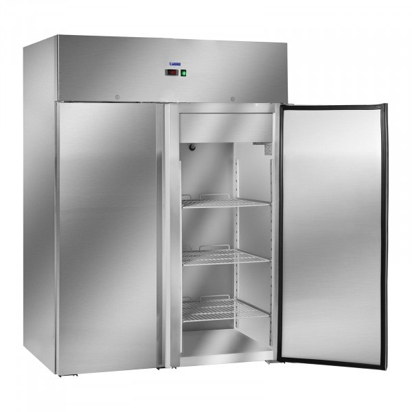 Industrial Fridge with Two Stainless Steel Doors - 1168 L