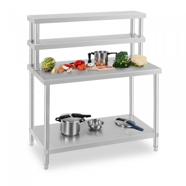 Commercial Stainless Steel Table And Shelf - 120 x 70 cm