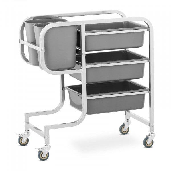 Bus Cart - 3 bus tubs - 2 rubbish bins - up to 100 kg
