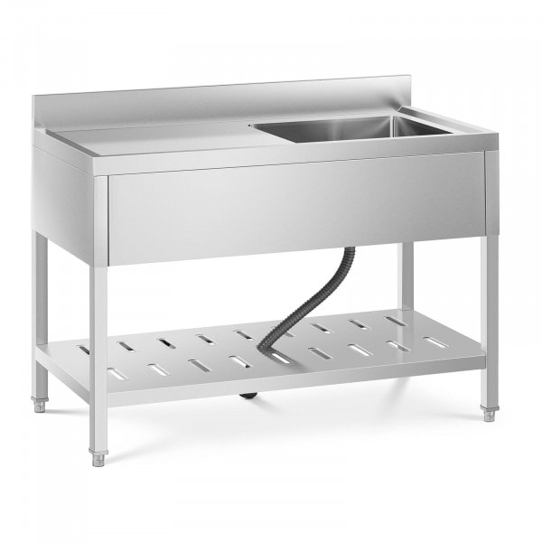 Commercial Kitchen Sink - 1 basin - stainless steel - 49 x 42 x 24.5 cm