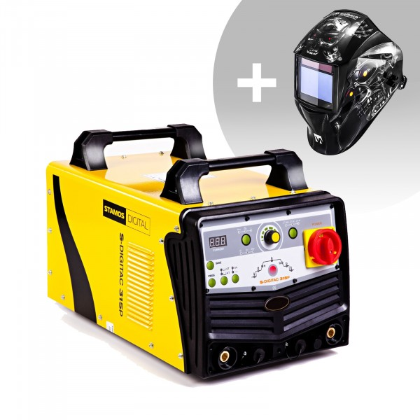 Welding Set Aluminium Welder - 315 A - 400 V - Pulse - digital - 2/4 Tact + Welding helmet – Metalator - EXPERT SERIES