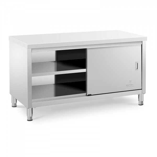 Stainless steel work cabinet - 150 x 70 x 85 cm - 600 kg load capacity