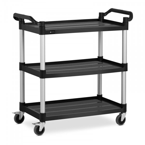 Service Cart - 3 shelves - 49 x 84.5 cm - 90 kg - black