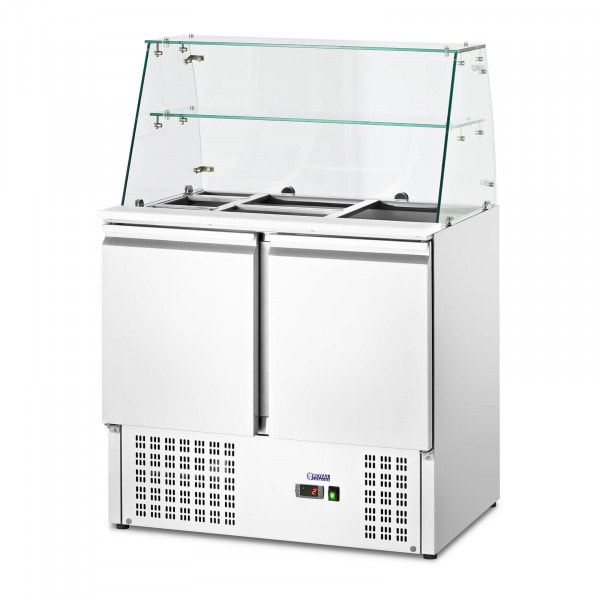 Salad Bar - with glass top - royal_catering - 240 L - for 7 GN containers - 90 x 70 cm