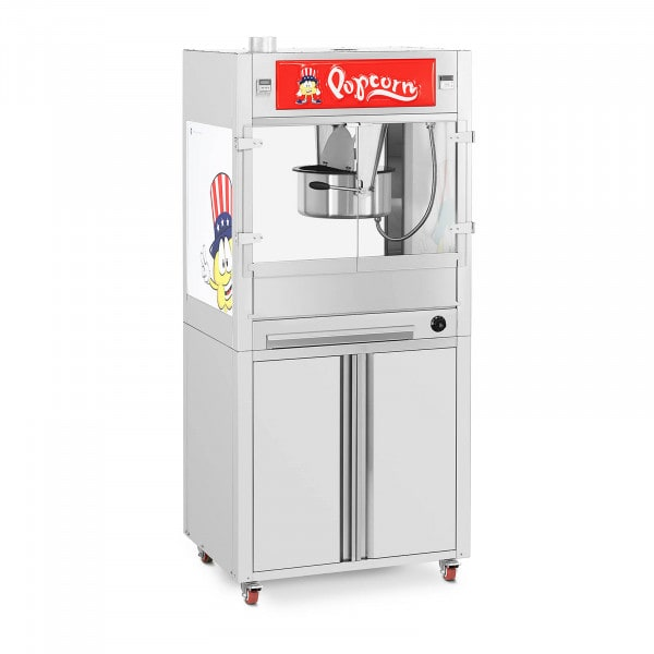 Popcorn Machine - with base cabinet on wheels - Royal Catering - large