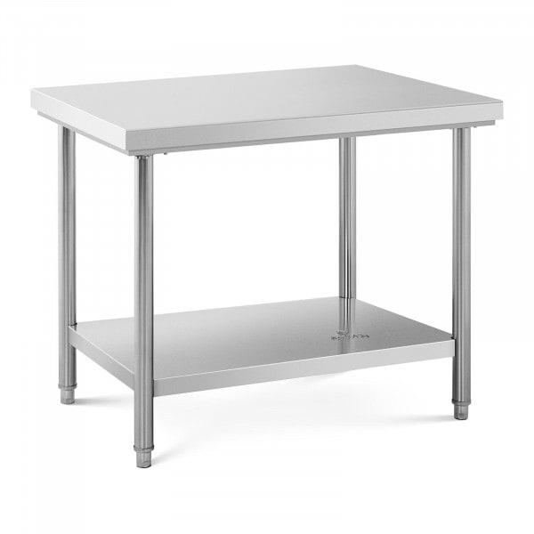 Stainless Steel Work Table - 100 x 70 cm - 95 kg capacity