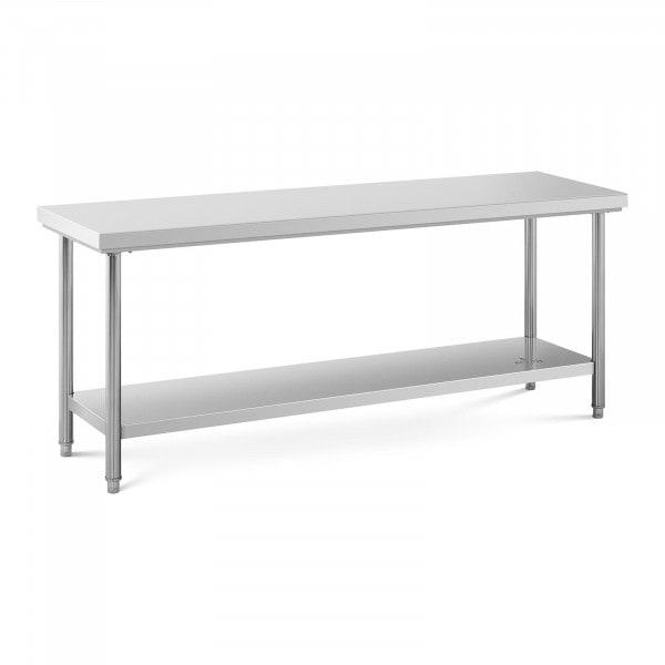 Stainless Steel Work Table - 200 x 60 cm - 195 kg capacity