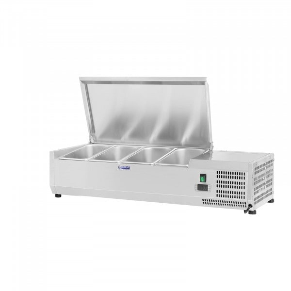Countertop Refrigerated Display Case - 120 x 39 cm - 4 GN 1/3 Containers