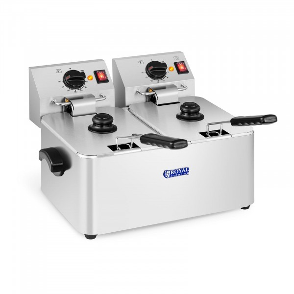 Electric Deep Fat Fryer - 2 x 8 litres - EGO thermostat