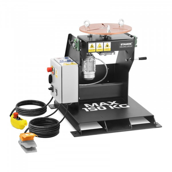 Welding Turntable - 150 kg - table inclination 0 - 90° - foot pedal